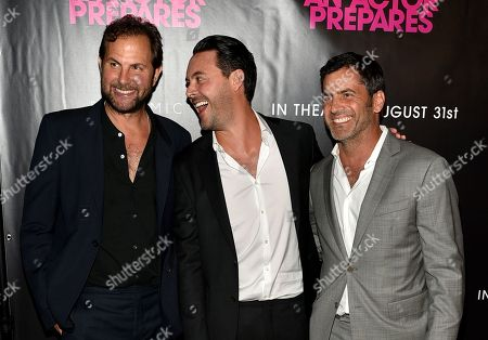 Stock Image of Steve Clark, Jack Huston and David M. Rosenthal