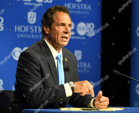 New York Governor Andrew M. Cuomo speaks at the Democratic gubernatorial primary debate at Hofstra University in Hempstead, New York, USA, 29 August 2018