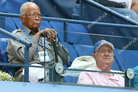 David Dinkins, Neil Sedaka. Former New York Mayor David Dinkins, left, and Neil Sedaka attend the second round of the U.S. Open tennis tournament at the USTA Billie Jean King National Tennis Center, in New York