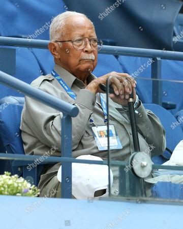 Former New York Mayor David Dinkins attends the second round of the U.S. Open tennis tournament at the USTA Billie Jean King National Tennis Center, in New York