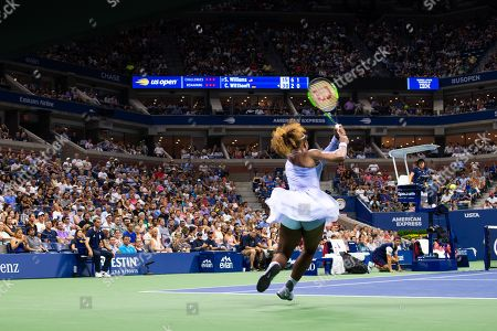 Serena Williams of the USA in action against Carina Witthoeft of Germany during the third day of the US Open Tennis Championships at the USTA National Tennis Center in Flushing Meadows, New York, USA, 29 August 2018. The US Open runs from 27 August through 09 September.