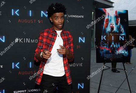 """Myles Truitt arrives at the Los Angeles premiere of """"Kin"""" at ArcLight Hollywood on"""