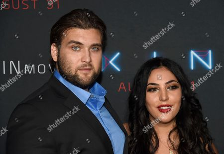 """Weston Cage Coppola, Hila Aronian Coppola. Weston Cage Coppola, left, and Hila Aronian Coppola arrive at the Los Angeles premiere of """"Kin"""" at ArcLight Hollywood on"""