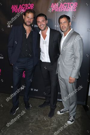 Steve Clark, director, Jack Huston and David M. Rosenthal