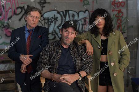 Gabriel Byrne as Ted Gold, Daniel Adams Director, Kiersey Clemons as Velocity