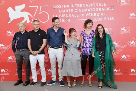 Editorial image of Orizzonti jury photocall, 75th Venice International Film Festival, Italy - 29 Aug 2018