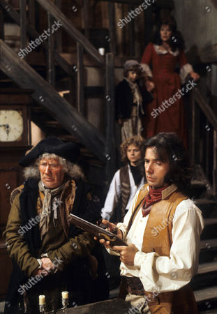 Stock Picture of 'Dick Turpin' - 'Sentence of Death' - Alfie Bass as Isaac Rag, Michael Deeks as Swiftnick and Richard O'Sullivan as Dick Turpin.