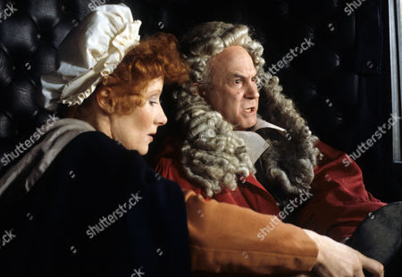 Stock Image of 'Dick Turpin' - 'The Judge' - Jo Rowbottom as Mary and John Barrard as Judge Lambsfoot.