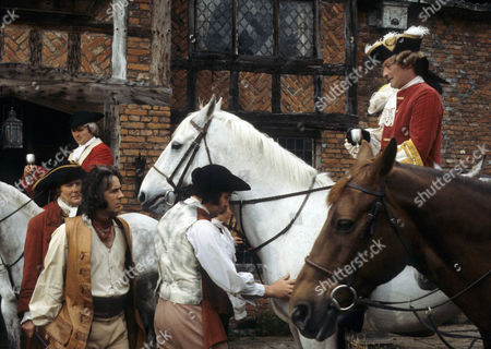 'Dick Turpin' - 'The Fox' - Garfield Morgan as Warren, Richard O'Sullivan as Dick Turpin and  Donald Pickering as Lord Manderfell.