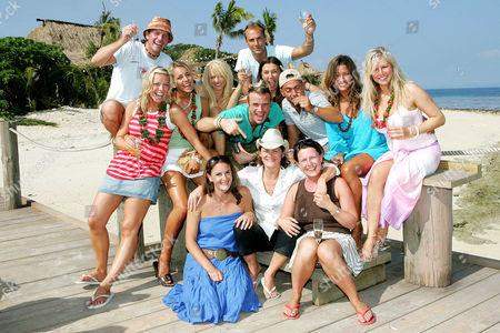 'Celebrity Love Island'  TV - 2005 -  L/R Liz Mcclarnon, Lee Sharpe, Lady Isabella Hervey, Nikki Ziering, Winners Fran Cosgrave and Jayne Middlemiss, Calum Best, Paul Danan, Rebecca Loos and Abi Titmuss.