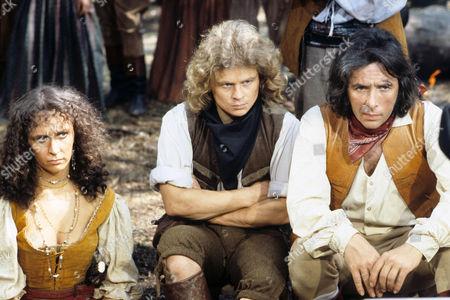 'Dick Turpin' -  'The Secret Folk' - Kay Adshead as Julsca, Michael Deeks as Swiftnick and Richard O'Sullivan as Dick Turpin,
