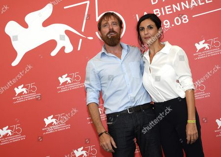 Italian filmmakers Francesca Mannocchi (R) and Alessio Romenzi (L) pose during a photocall for 'Tomorrow. The Lost Souls of Mosul' during the 75th annual Venice International Film Festival, in Venice, Italy, 30 August 2018. The movie is presented in out Competition at the festival running from 29 August to 08 September 2018.