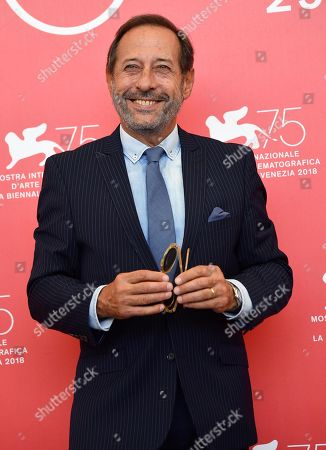 Argentinian actor Guillermo Francella poses during a photocall for 'Mi Obra Maestra' at the 75th annual Venice International Film Festival, in Venice, Italy, 30 August 2018. The movie is presented out of competition at the festival running from 29 August to 08 September.