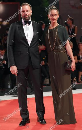 Greek director Yorgos Lanthimos (L) and his wife, French actress Ariane Labed (R) arrive for the premiere of 'The Favourite'  during the 75th annual Venice International Film Festival, in Venice, Italy, 30 August 2018. The movie is presented in the official competition 'Venezia 75' at the festival running from 29 August to 08 September 2018.