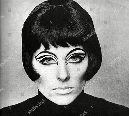 Model Jill Kennington Made Up with A Fantastical Cat-like Face. Unattributed Photograph, Published in London Life Magazine - October-december 1965 Volume