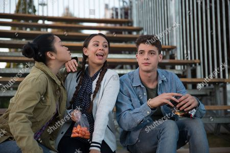 Lana Condor as Lara Jean, Janel Parrish as Margot, Israel Broussard as Josh