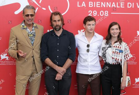 Jeff Goldblum, Director Rick Alverson, Tye Sheridan and Hannah Gross