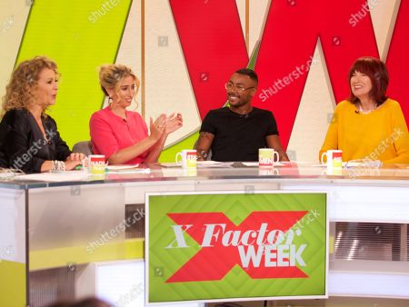 Stock Image of Nadia Sawalha, Stacey Solomon, Marcus Collins Janet Street-Porter and Jane Moore