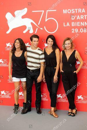 Stock Picture of Virginie Acaries, Sandor Funtek, Sarah Marx, Sandrine Bonnaire and Ekoue Labitey