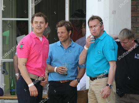 Jamie Bamber (centre) Phil Glenister (far right)