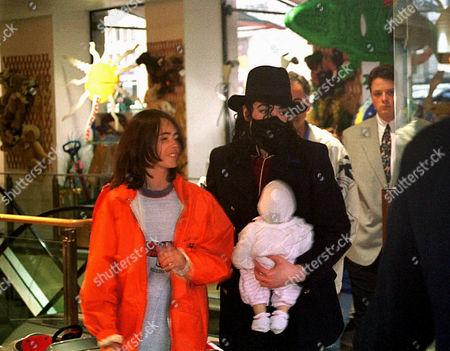 Stock Image of Michael Jackson and Omer Bhatti