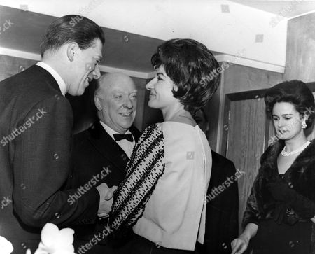 MARIA CALLAS SHAKING HANDS WITH THE EARL OF HAREWOOD