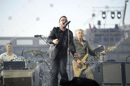 U2 - Larry Mullen Jnr, Bono and Adam Clayton