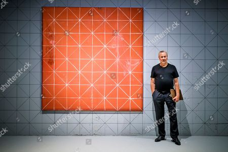 US stage director Robert Wilson poses in the 'Balthus Unfinished' exhibition that he conceived in the 'Plateforme 10' construction site that will regroup the Musee cantonal des Beaux-arts (mcb-a), the Musee de l?Elysee and the MUDAC in Lausanne, Switzerland, 30 August 2018. The exhibition puts on display unfinished artworks by Polish-French artist Balthasar Klossowski de Rolam, known as Balthus.