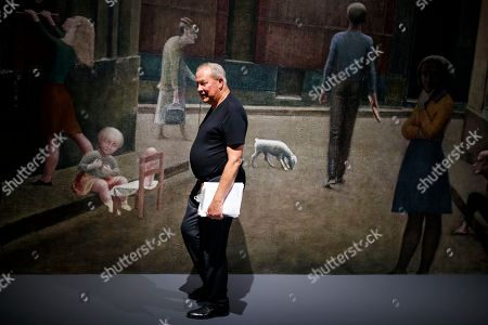 US stage director Robert Wilson walks in the 'Balthus Unfinished' exhibition that he conceived in the 'Plateforme 10' construction site that will regroup the Musee cantonal des Beaux-arts (mcb-a), the Musee de l?Elysee and the MUDAC in Lausanne, Switzerland, 30 August 2018. The exhibition puts on display unfinished artworks by Polish-French artist Balthasar Klossowski de Rolam, known as Balthus.