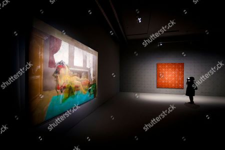 "A woman visits the ""Balthus Unfinished' exhibition conceived by US stage director Robert Wilson in the 'Plateforme 10' construction site that will regroup the Musee cantonal des Beaux-arts (mcb-a), the Musee de l?Elysee and the MUDAC in Lausanne, Switzerland, Thursday, August 30, 2018. The exhibition puts on display unfinished artworks by Polish-French artist Balthasar Klossowski de Rolam, known as Balthus, in the unusual environment of an ongoing construction site."