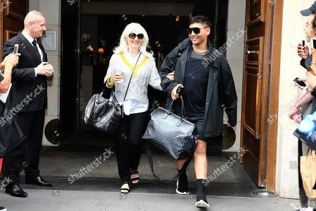 Cynthia Germanotta leaving the hotel Hyaat