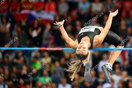 Stock Picture of Yuliya Levchenko of Ukraine competes in the women's High Jump event during the Weltklasse IAAF Diamond League international athletics meeting in Zurich, Switzerland, 30 August 2018.