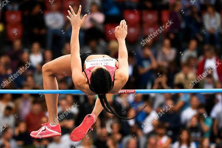 Stock Picture of Marie-Laurence Jungfleisch of Germany competes in the women's High Jump event during the Weltklasse IAAF Diamond League international athletics meeting in Zurich, Switzerland, 30 August 2018.