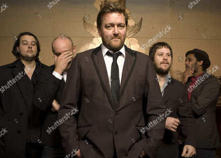 Stock Image of Elbow- Craig Potter, Richard Jupp, Guy Garvey, Mark Potter, Pete Turner