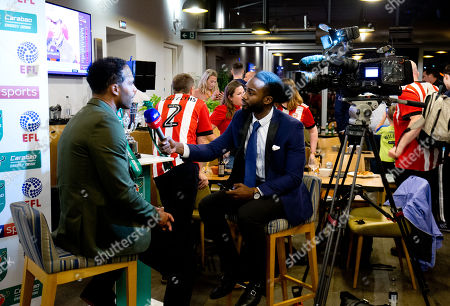 The EFL Carabao Cup 3rd Round Draw with David Seaman, Joleon Lescott and David Prutton, Club Supporters & the League Cup Trophy
