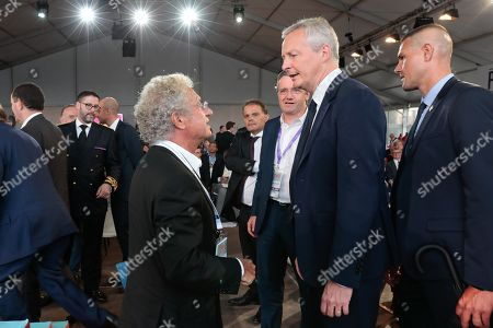 Bruno Le Maire Ministre of Economie and Laurent Dassault