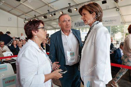 Christiane Lambert FNSEA, Pierre Gattaz and Isabelle Kocher DG of Engie