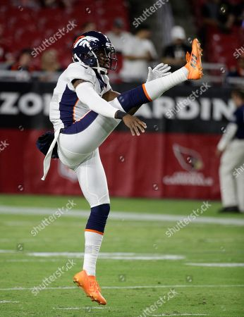 Denver Broncos punter Marquette King (1) during the first half of a preseason NFL football game against the Arizona Cardinals, in Glendale, Ariz