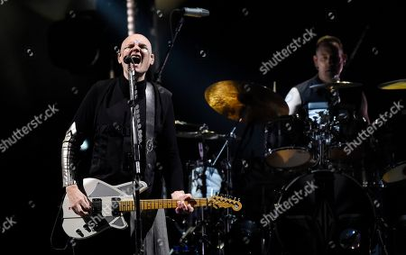 Billy Corgan, Jimmy Chamberlin. Billy Corgan, left, and Jimmy Chamberlin of Smashing Pumpkins perform at The Forum, in Inglewood, Calif