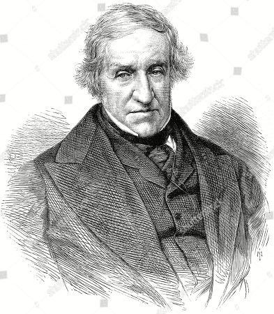 Engraved Portrait of John Cam Hobhouse Lord Broughton (1786-1869) the English Radical Politician and Writer Pictured C.1869. the Illustrated London News. 19 June 1869. Top of Page 624.