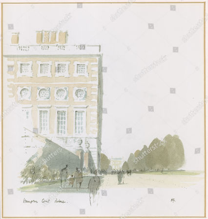 A Watercolour and Pen Painting of Hampton Court Palace London. the Illustrated London News Featured A Long Running Series of Paintings of London's Architecture by Sir Hugh Maxwell Casson During the Late 1960s and Through the 1970s. the Illustrated London News. 01/10/1977. . by Hugh Casson.