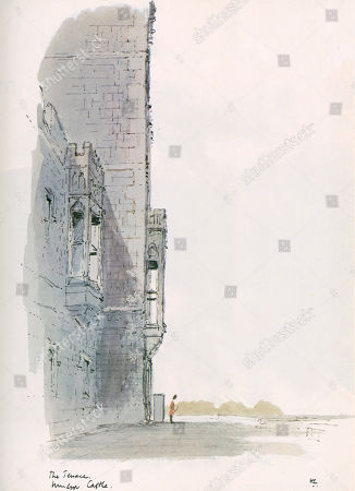 A Watercolour and Pen Painting of the Terrace Windsor Castle London. the Illustrated London News Featured A Long Running Series of Paintings of London's Architecture by Sir Hugh Maxwell Casson During the Late 1960s and Through the 1970s. the Illustrated London News. 01/10/1977. . by Hugh Casson.