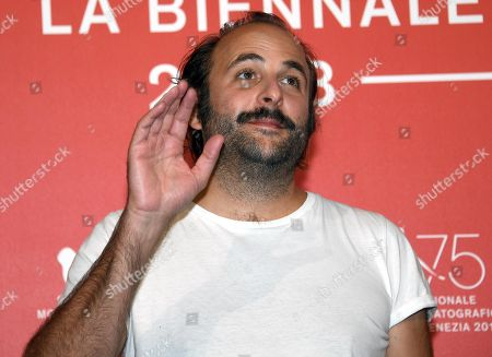 French actor Vincent Macaigne poses during a photocall for 'Doubles Vies' during the 75th annual Venice International Film Festival, in Venice, Italy, 31 August 2018. The movie is presented in the official competition 'Venezia 75' at the festival running from 29 August to 08 September 2018.