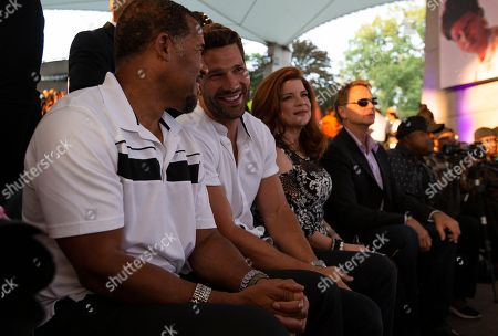 The Have and Have Nots cast Members (L to R) Peter Parros, Aaron O'Connell, Renee Lawless and John Schneider attend A People's Tribute to the Queen at Chene Park in Detroit, Michigan, USA, 30 August 2018. Aretha Franklin, known as the Queen of Soul for many recording hits, died 16 August 2018 from pancreatic cancer and will be buried in Woodlawn Cemetery on 31 August. She was 76.