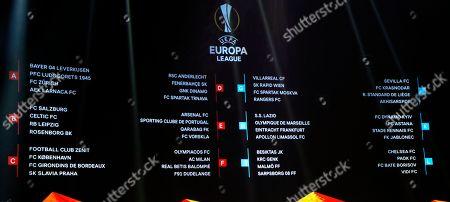 Europa League Group Stage Draw Monaco Stock Photos Exclusive