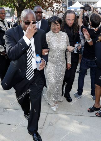 Stock Picture of Shirley Ceaser. American singer Shirley Caesar, center, arrives at the Greater Grace Temple for legendary singer Aretha Franklin's funeral in Detroit, . Franklin died Aug. 16 of pancreatic cancer at the age of 76