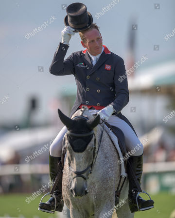 Oliver Townend (GBR) riding Ballaghmor Class in action during their dressage test on the 2nd day of competition. Townend has all three horses in the top seven places going into the cross country phase.  The Land Rover Burghley Horse Trials. Burghley House, Stamford, Lincolnshire, Britain. 31st Aug 2018.