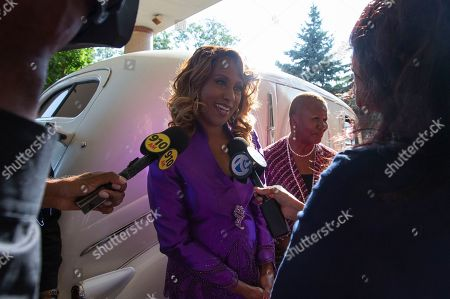 US Singer and actress Jennifer Holliday speaks to the media at Greater Grace Temple in Detroit, Michigan, USA, 31 August 2018. Aretha Franklin, known as the Queen of Soul for many recording hits, died 16 August 2018 from pancreatic cancer and will be buried in Woodlawn Cemetery on 31 August. She was 76.