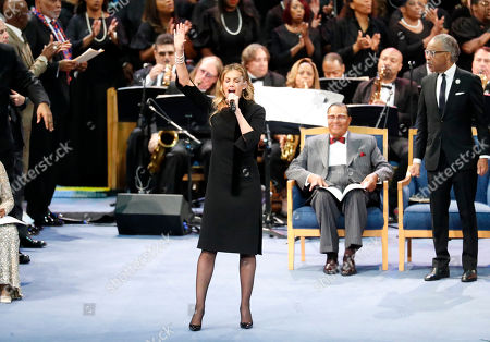 Stock Image of Faith Hill performs during the funeral service for Aretha Franklin at Greater Grace Temple, in Detroit. Franklin died Aug. 16, 2018 of pancreatic cancer at the age of 76
