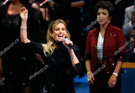 Stock Picture of Faith Hill performs during the funeral service for Aretha Franklin at Greater Grace Temple, in Detroit. Franklin died Aug. 16, 2018 of pancreatic cancer at the age of 76